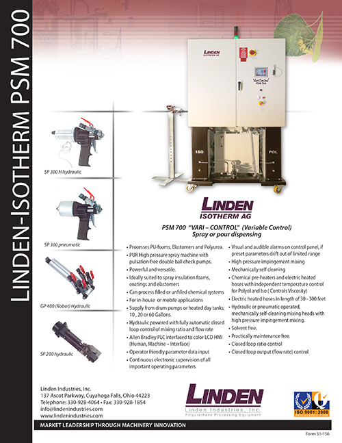 Liden-Isotherm PSM 700 Spray Machine