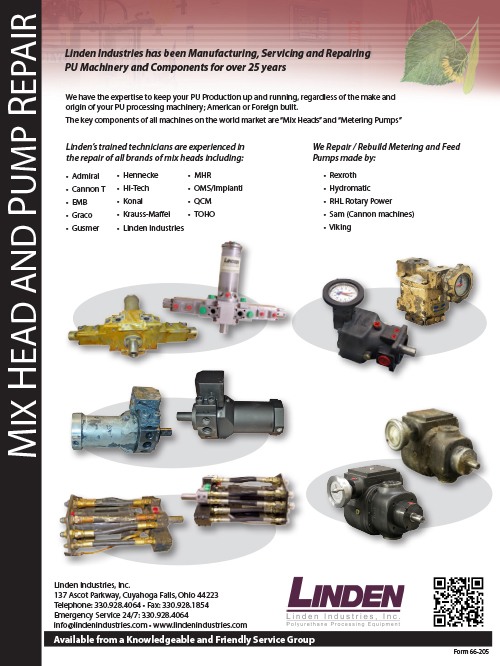 Mix head and pump repair